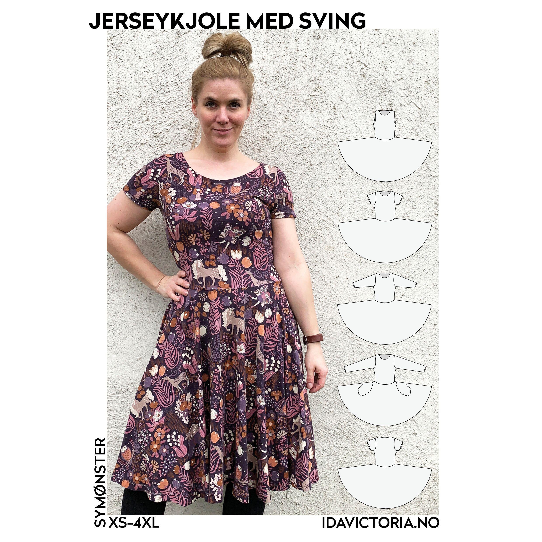 Jerseykjole med Sving til Barn Ida Victoria Abby's Tekstiler